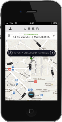 Uber Milano - Screenshot w iPhone (1)