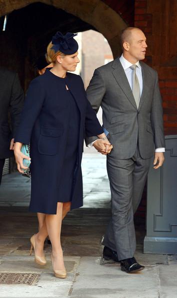 Zara Phillips in blu