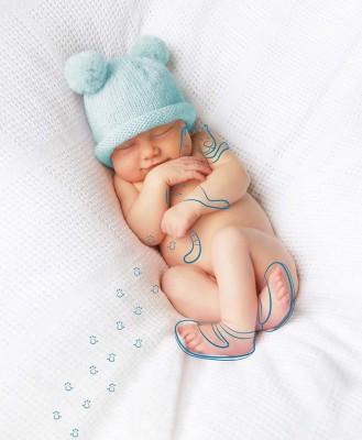 Pram Baby Hat Kitten